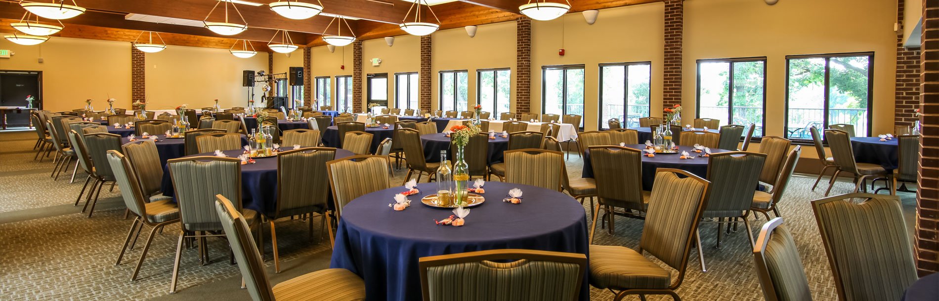 Event space with tables at Braemar Golf Course