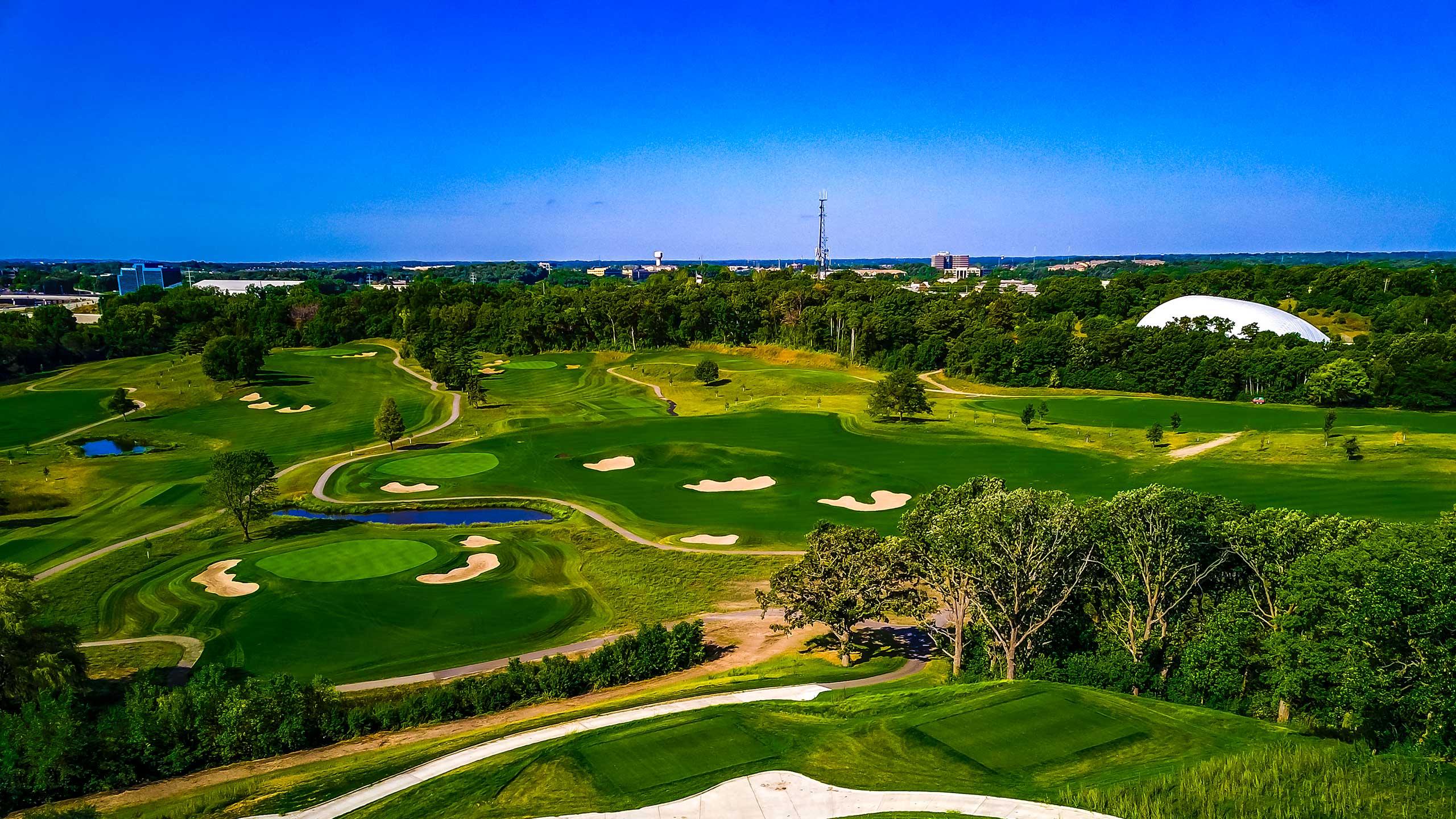 Flyover shot of Braemar Golf Course